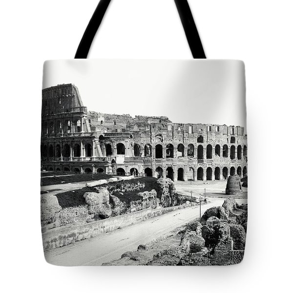 Tote Bag featuring the photograph 1870 The Colosseum Of Rome Italy by Historic Image