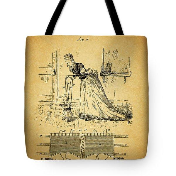 1874 Baby Exercising Corset Tote Bag by Dan Sproul