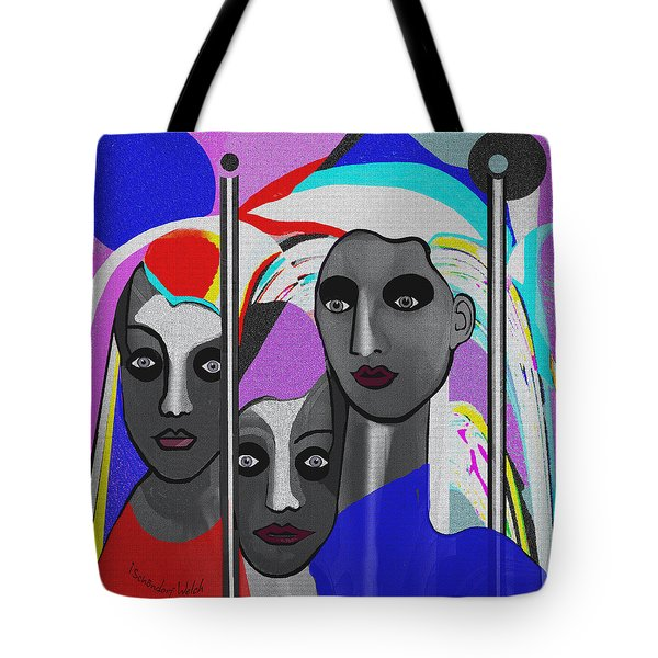 Tote Bag featuring the digital art 1875 - To Walk Tall by Irmgard Schoendorf Welch