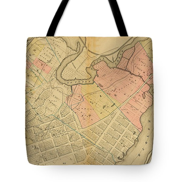 1879 Inwood Map  Tote Bag