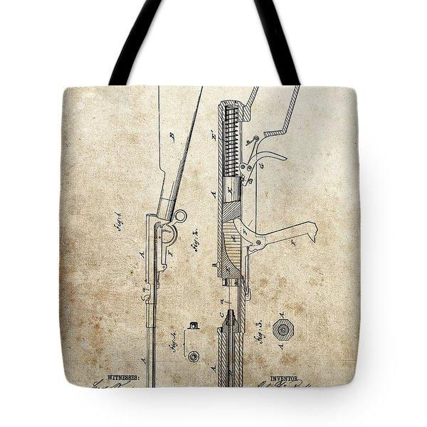 1881 Parlor Rifle Patent Tote Bag