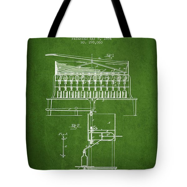 1884 Bottling Machine Patent - Green Tote Bag