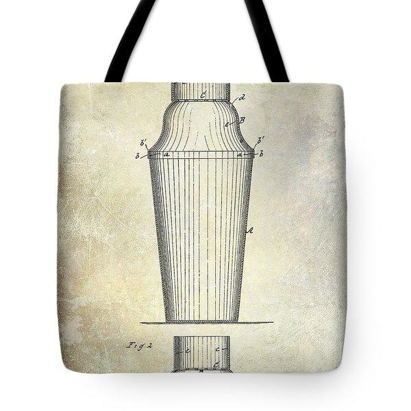 1884 Drink Shaker Patent Tote Bag