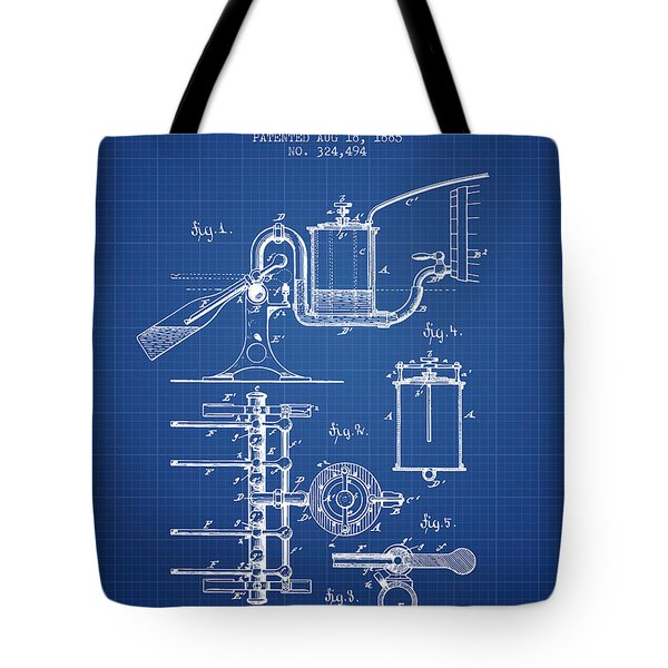 1885 Bottling Machine Patent - Blueprint Tote Bag