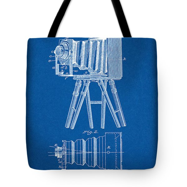 1885 Camera Us Patent Invention Drawing - Blueprint Tote Bag
