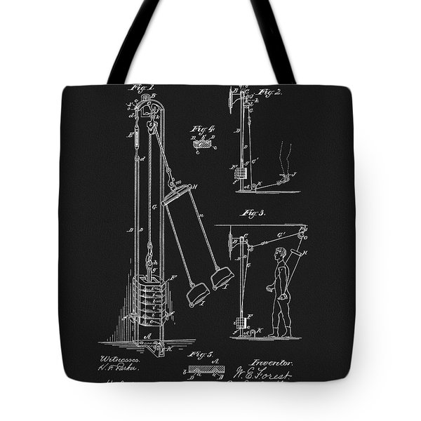 1885 Exercise Apparatus Tote Bag by Dan Sproul