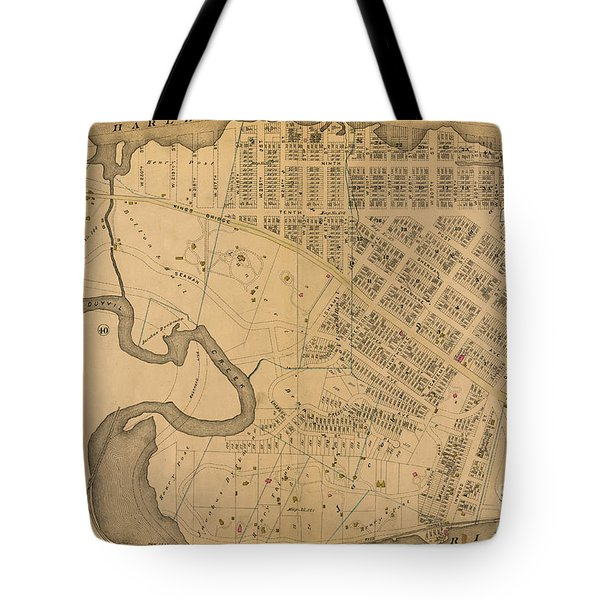 Tote Bag featuring the photograph 1885 Inwood Map  by Cole Thompson