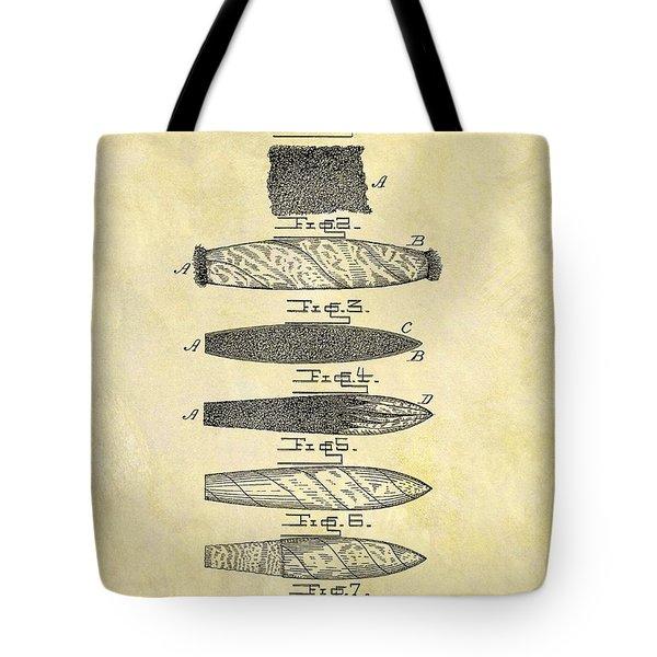 1887 Cigar Patent Tote Bag