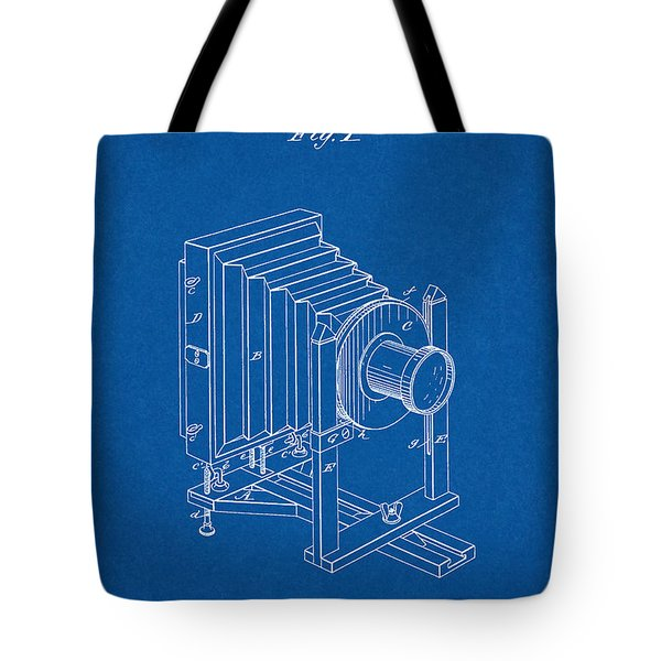 1888 Camera Us Patent Invention Drawing - Blueprint Tote Bag