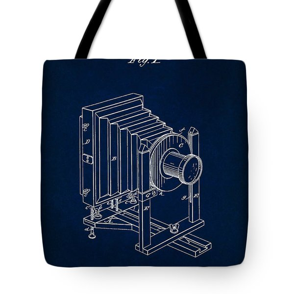1888 Camera Us Patent Invention Drawing - Dark Blue Tote Bag