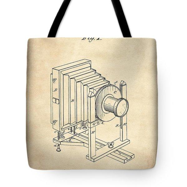 1888 Camera Us Patent Invention Drawing - Vintage Tan Tote Bag