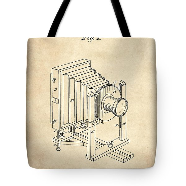 1888 Camera Us Patent Invention Drawing - Vintage Tan Tote Bag