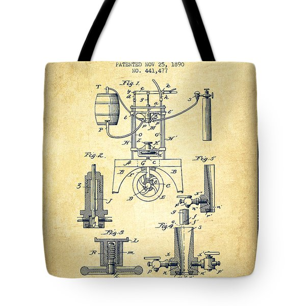 1890 Bottling Machine Patent - Vintage Tote Bag