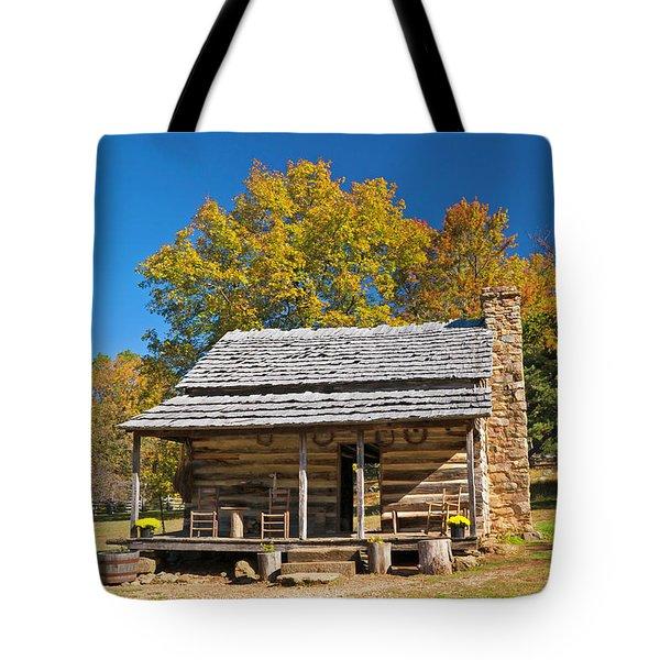 1890's Farm Cabin Tote Bag