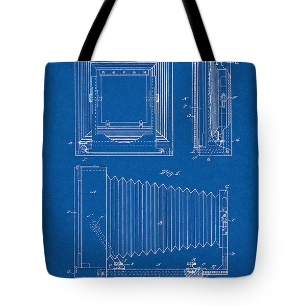 1891 Camera Us Patent Invention Drawing - Blueprint Tote Bag