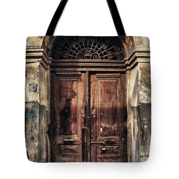 1891 Door Cyprus Tote Bag by Stelios Kleanthous
