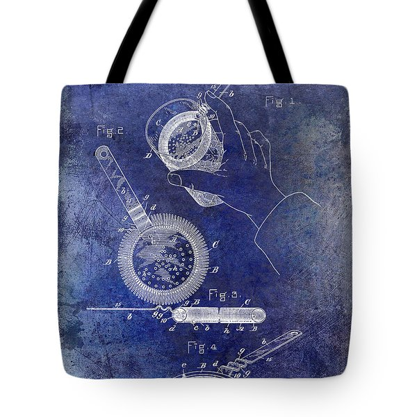 1892 Cocktail Mixer Blue Tote Bag