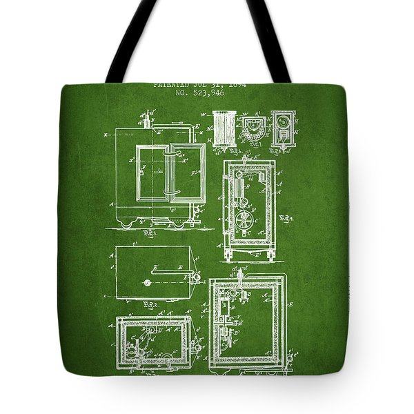 1894 Bank Safe Patent -green Tote Bag