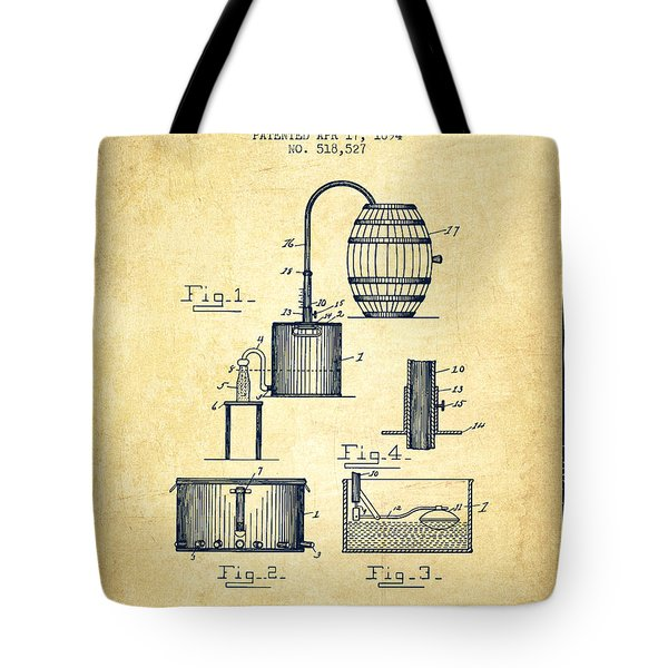 1894 Bottling Machine Patent - Vintage Tote Bag