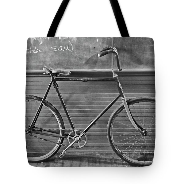 Tote Bag featuring the photograph 1895 Bicycle by Joan Reese