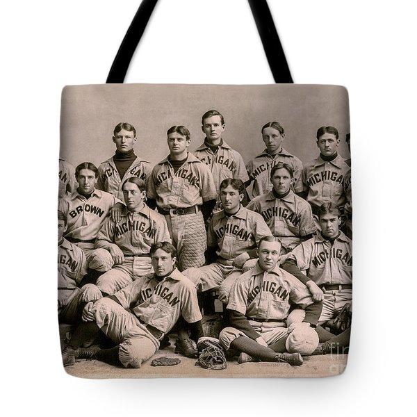 1896 Michigan Baseball Team Tote Bag
