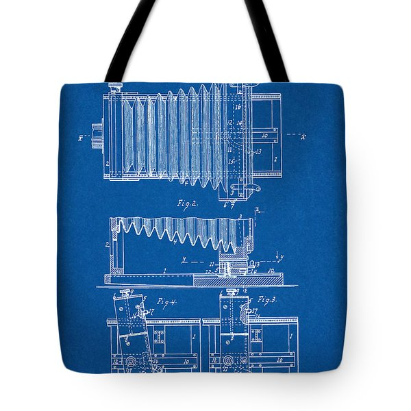 1897 Camera Us Patent Invention Drawing - Blueprint Tote Bag