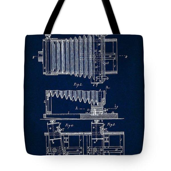 1897 Camera Us Patent Invention Drawing - Dark Blue Tote Bag