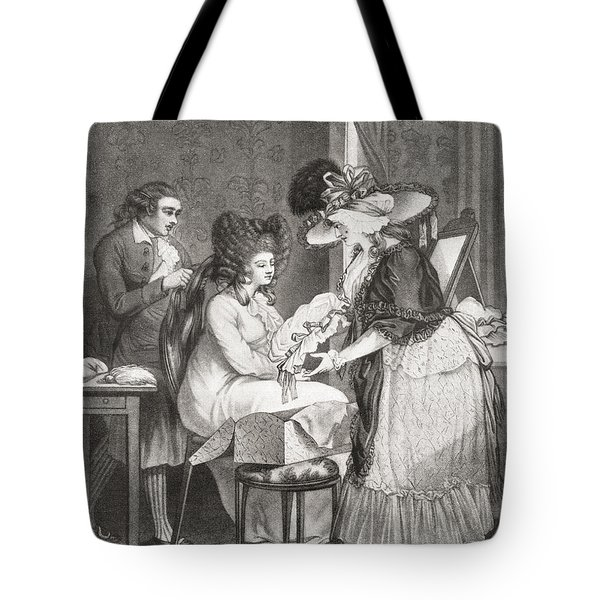 18th Century Lady At Her Morning Tote Bag