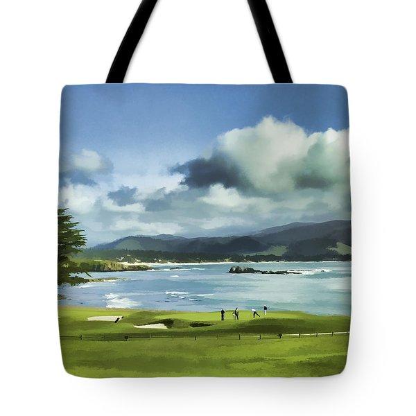 18th Hole Pebble Beach 2 Tote Bag