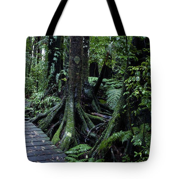 Tote Bag featuring the photograph Forest Boardwalk by Les Cunliffe