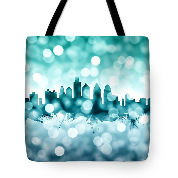 Philadelphia Pennsylvania Skyline Tote Bag