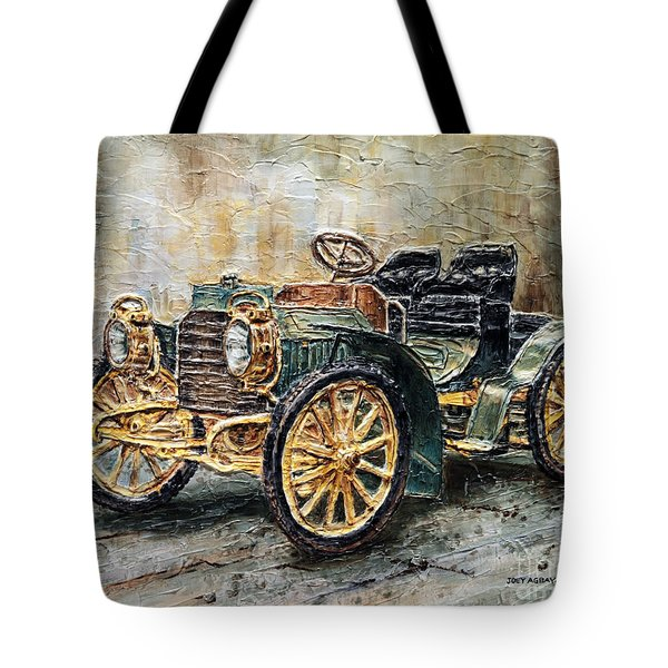 1901 Mercedes Benz Tote Bag by Joey Agbayani