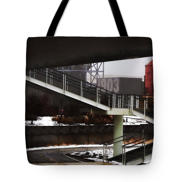 Tote Bag featuring the digital art 1903 by David Blank