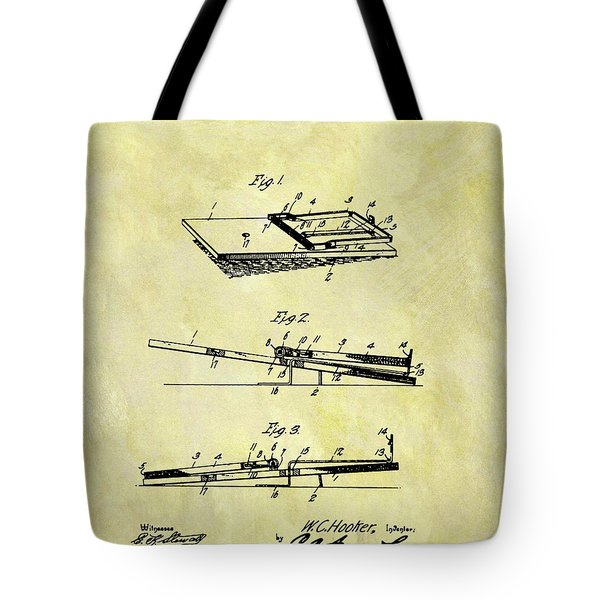 Tote Bag featuring the mixed media 1903 Mouse Trap Patent by Dan Sproul