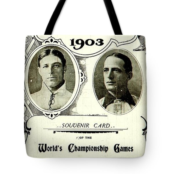 1903 World Series Poster Tote Bag