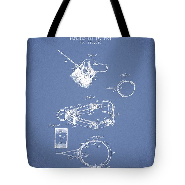 1904 Dog Collar Patent - Light Blue Tote Bag