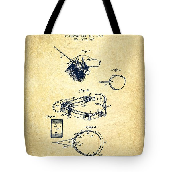 1904 Dog Collar Patent - Vintage Tote Bag
