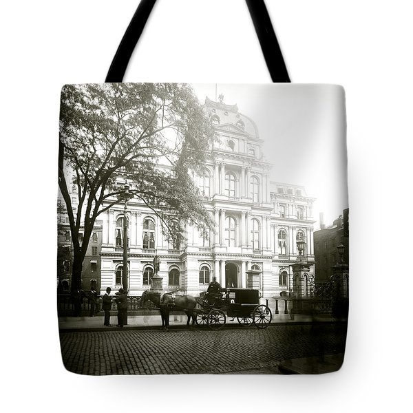 1905 Boston City Hall Tote Bag by Historic Image