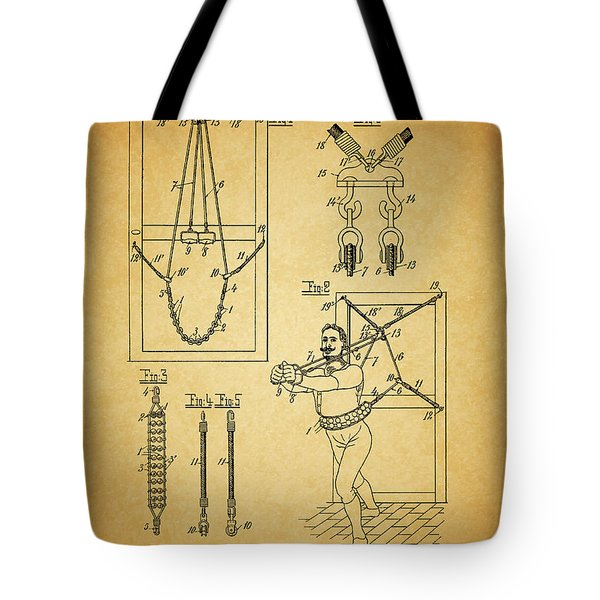 1905 Exercise Apparatus Patent Tote Bag by Dan Sproul