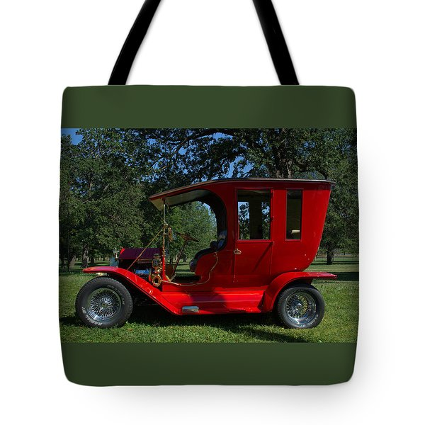 1909 Ford Model T Limo Custom Hot Rod Tote Bag by Tim McCullough