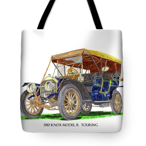 1910 Knox Model R 5 Passenger  Touring Automobile Tote Bag by Jack Pumphrey