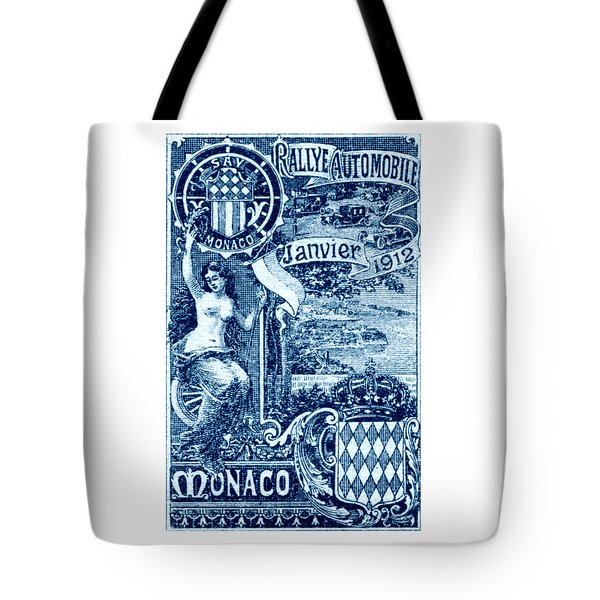 Tote Bag featuring the painting 1912 Monaco Automobile Rally by Historic Image