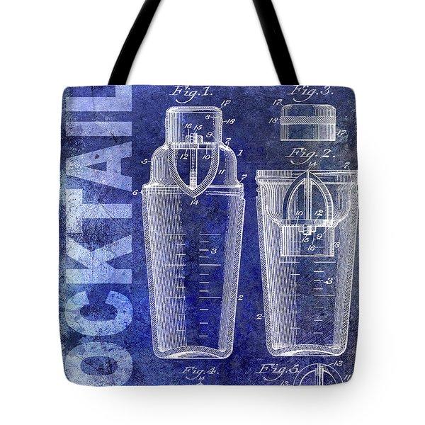 1913 Cocktail Shaker Blue Tote Bag