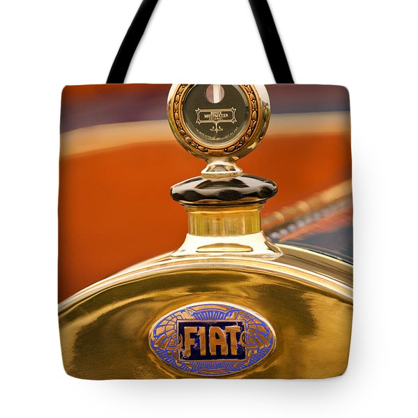 1913 Fiat Type 56 7 Passenger Touring Hood Ornament Tote Bag by Jill Reger