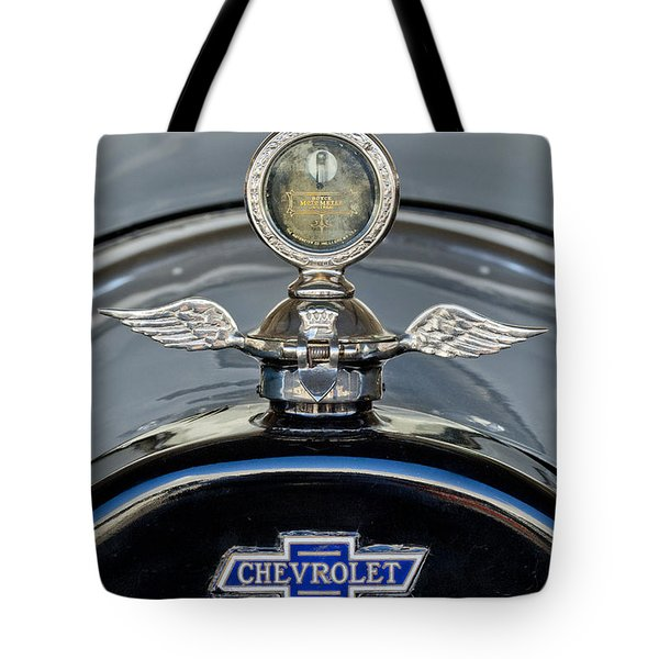 1915 Chevrolet Touring Hood Ornament 2 Tote Bag by Jill Reger