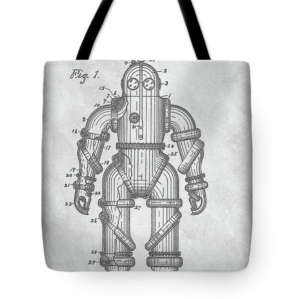1915 Diving Suit Patent Tote Bag