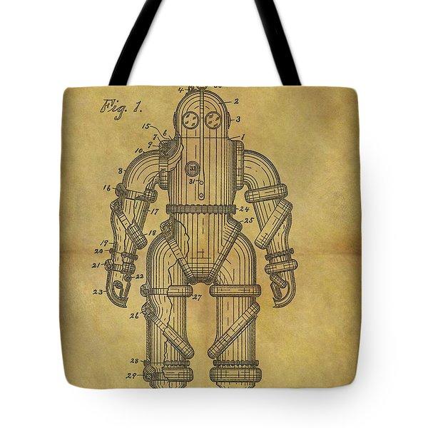 1915 Underwater Armor Suit Patent Tote Bag