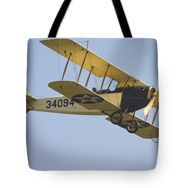 1917 Curtiss Jn-4d Jenny Flying Canvas Photo Poster Print Tote Bag