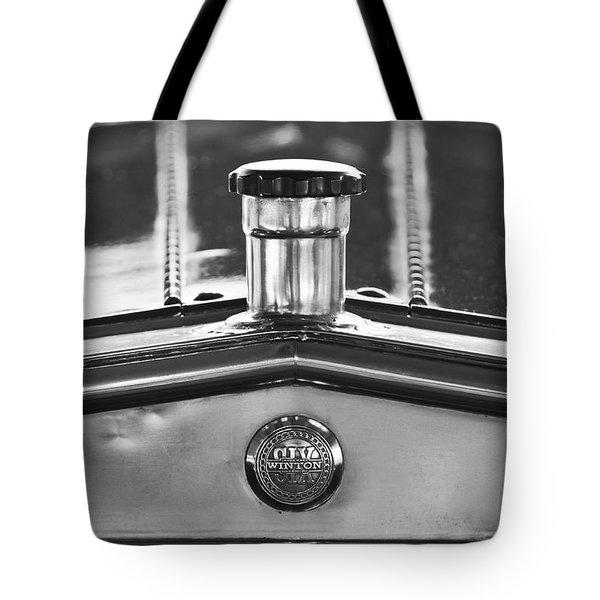 1917 Winton Six-33 Sport Touring Hood Ornament 2 Tote Bag by Jill Reger