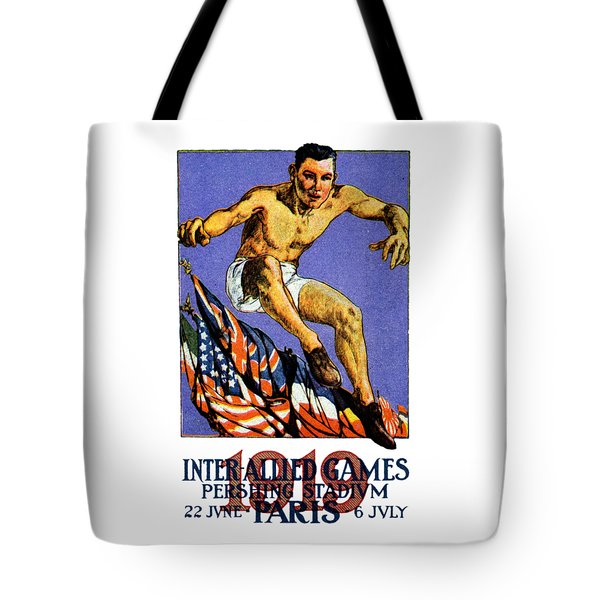 1919 Allied Games Poster Tote Bag by Historic Image